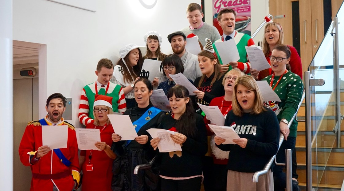 Staff Christmas choir 2016